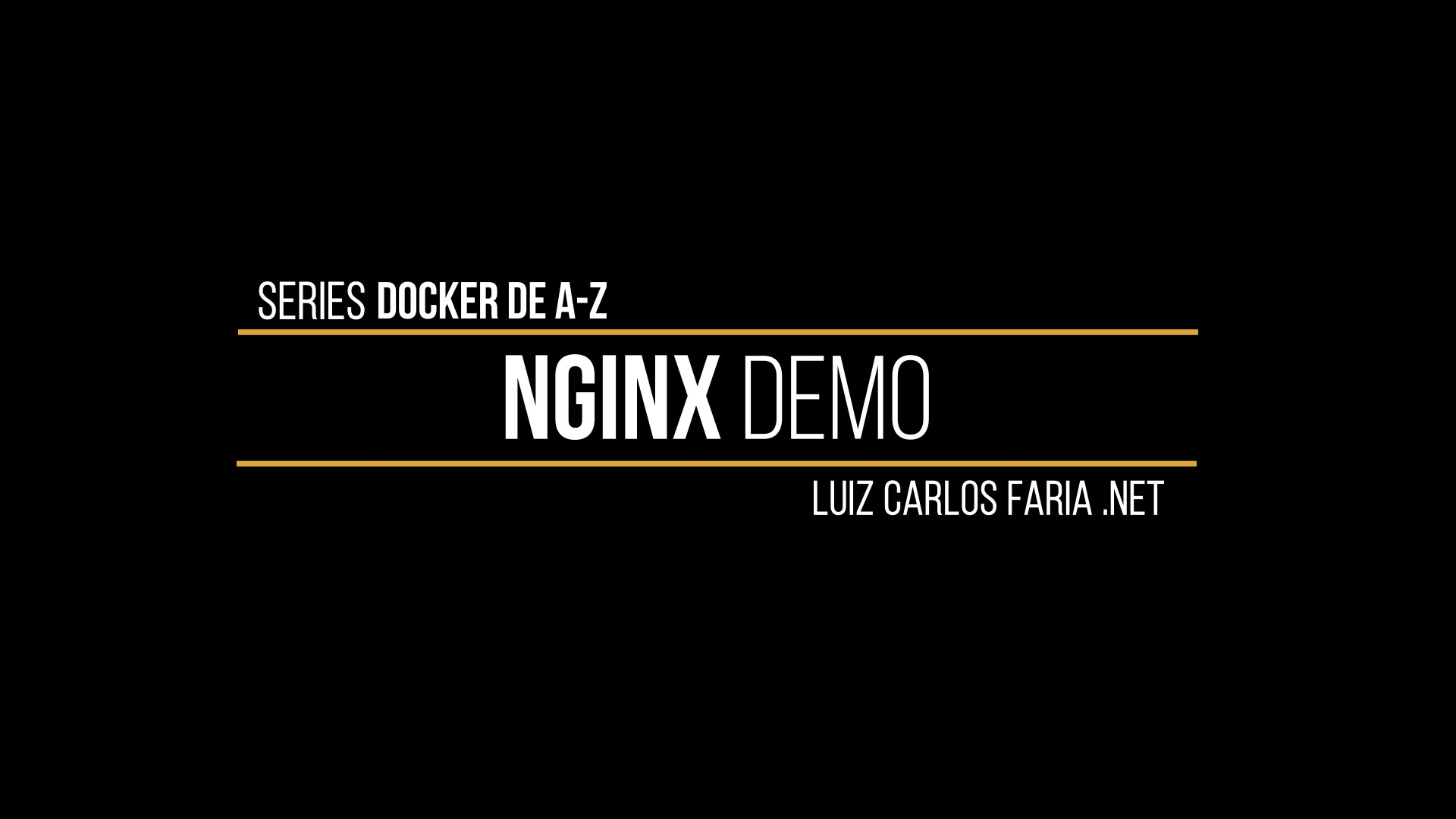 Docker – de A a Z – 10 – Demo Nginx no Docker