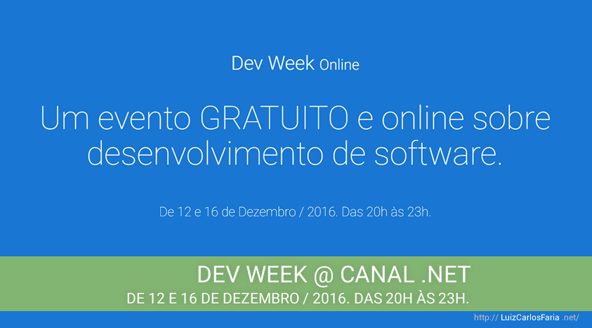 Dev Week 2016 @ Canal .NET