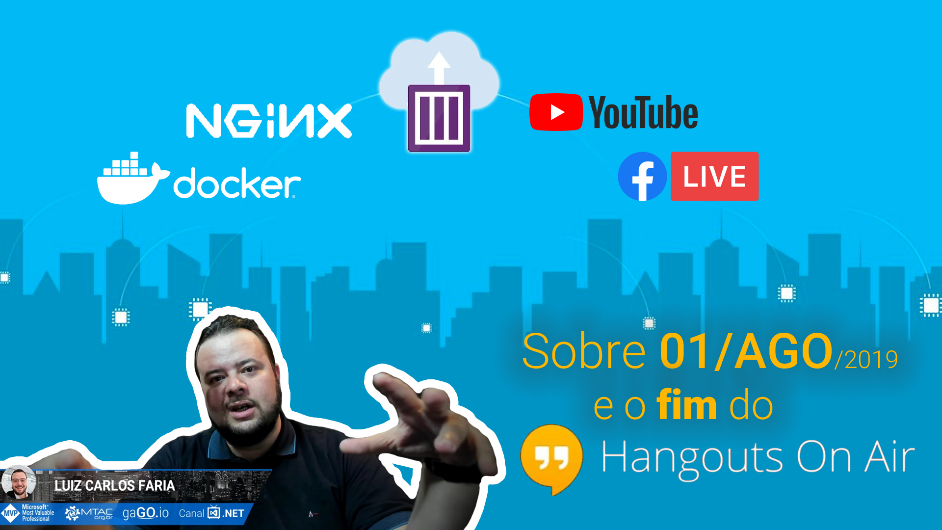 Sobre 1° de Agosto e o Fim do Hangouts On Air – Como resolvemos com Docker, NGINX e RTMP no Azure Container Instances
